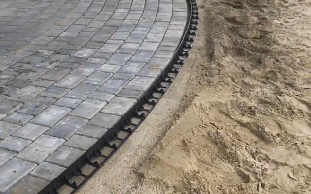 Edging the edging next to paving stones