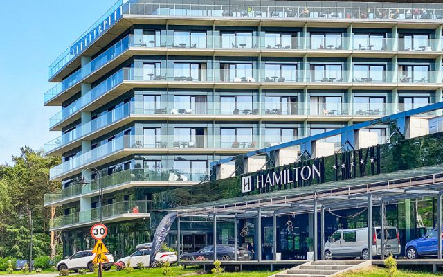 Grüne Hotel Parkplätze