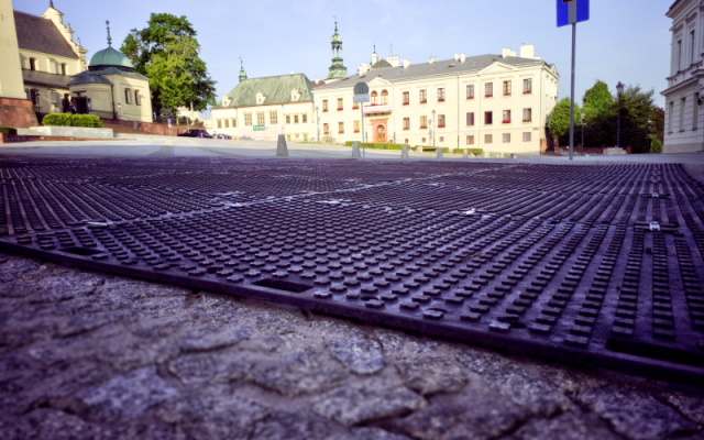 Temporary protection of the surface in Kielce